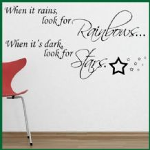 When it Rains Look for Rainbows ~ Wall sticker / decals